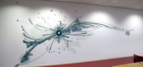 Image of a data visualization using graffiti