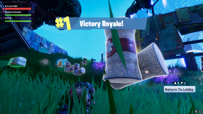 i was playing a new game this weekend called fortnite and it was actually relatively interesting to see how hard i tried to get first place - fortnite first place